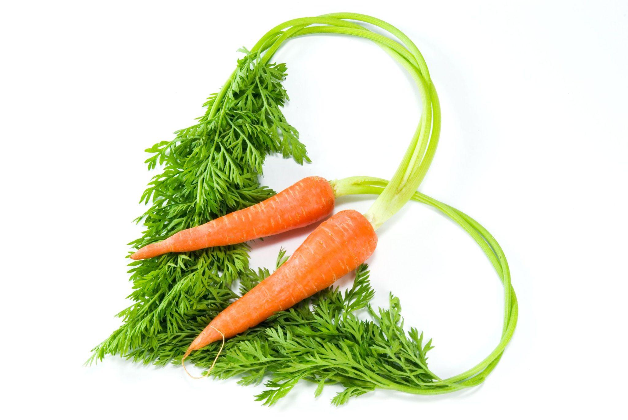 Открытка в виде морковки