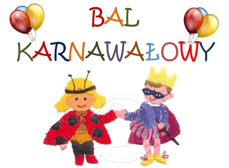 Przedszkole Samorządowe Zaproszenie Na Bal Karnawałowy