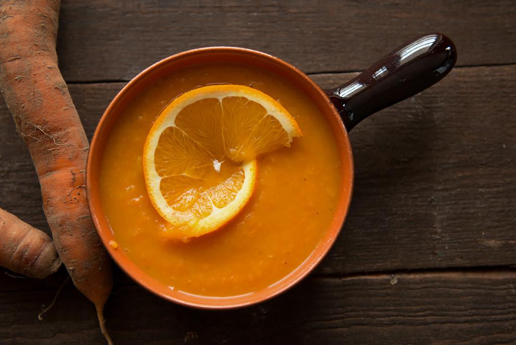 krem z marchwi z pomarańczą