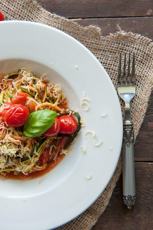 spagetti z cukinii